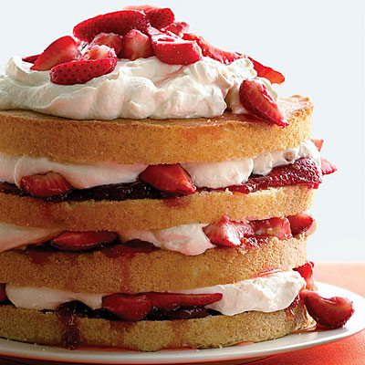 Strawberry-Cream Angel Food Cake Recipe from Betty Crocker